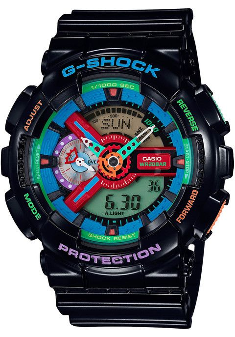 2e1bff3e055 GA-110MC-1A G Shock GA-110 Crazy Color Series Black