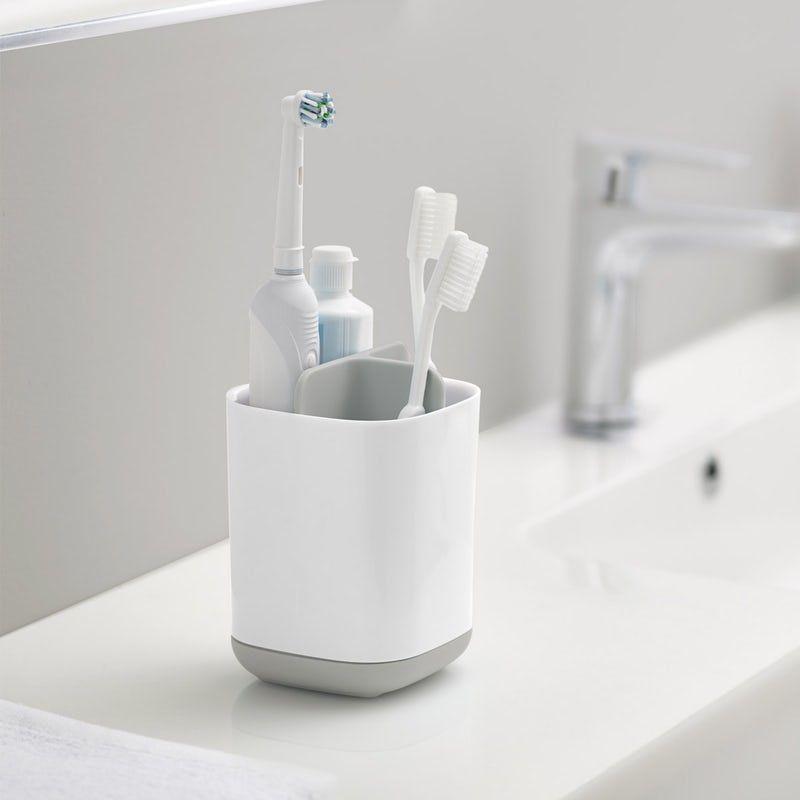 Joseph Joseph Easy Store Grey Toothbrush Holder Brushing Teeth Toothbrush And Toothpaste Holder Toothbrush Holder