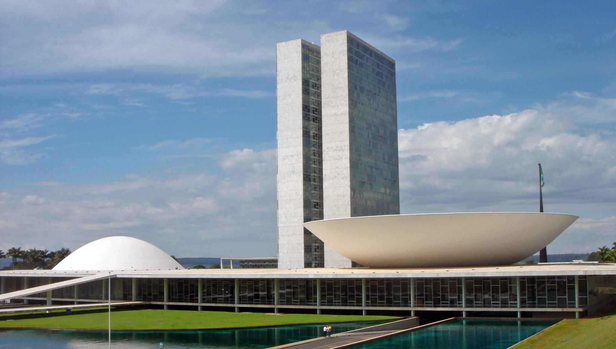National Congress Of Brazil Designed By Oscar Niemeyer 1960