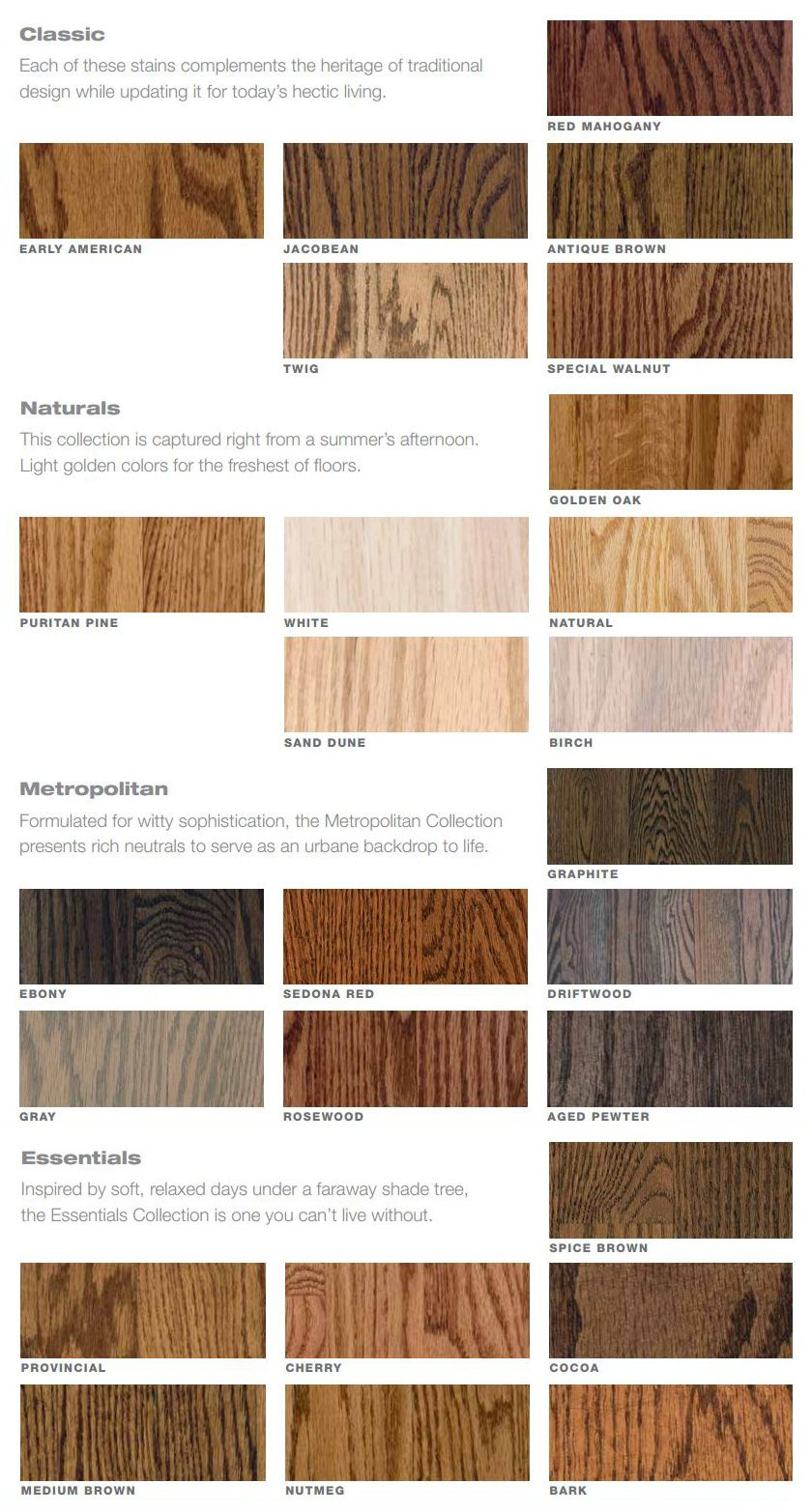 Bona Drifast Stain Color Chart Wood