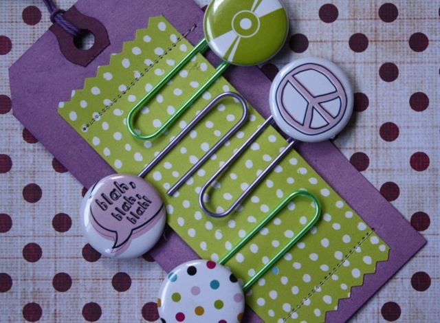 Large tag with extra paper stitched on