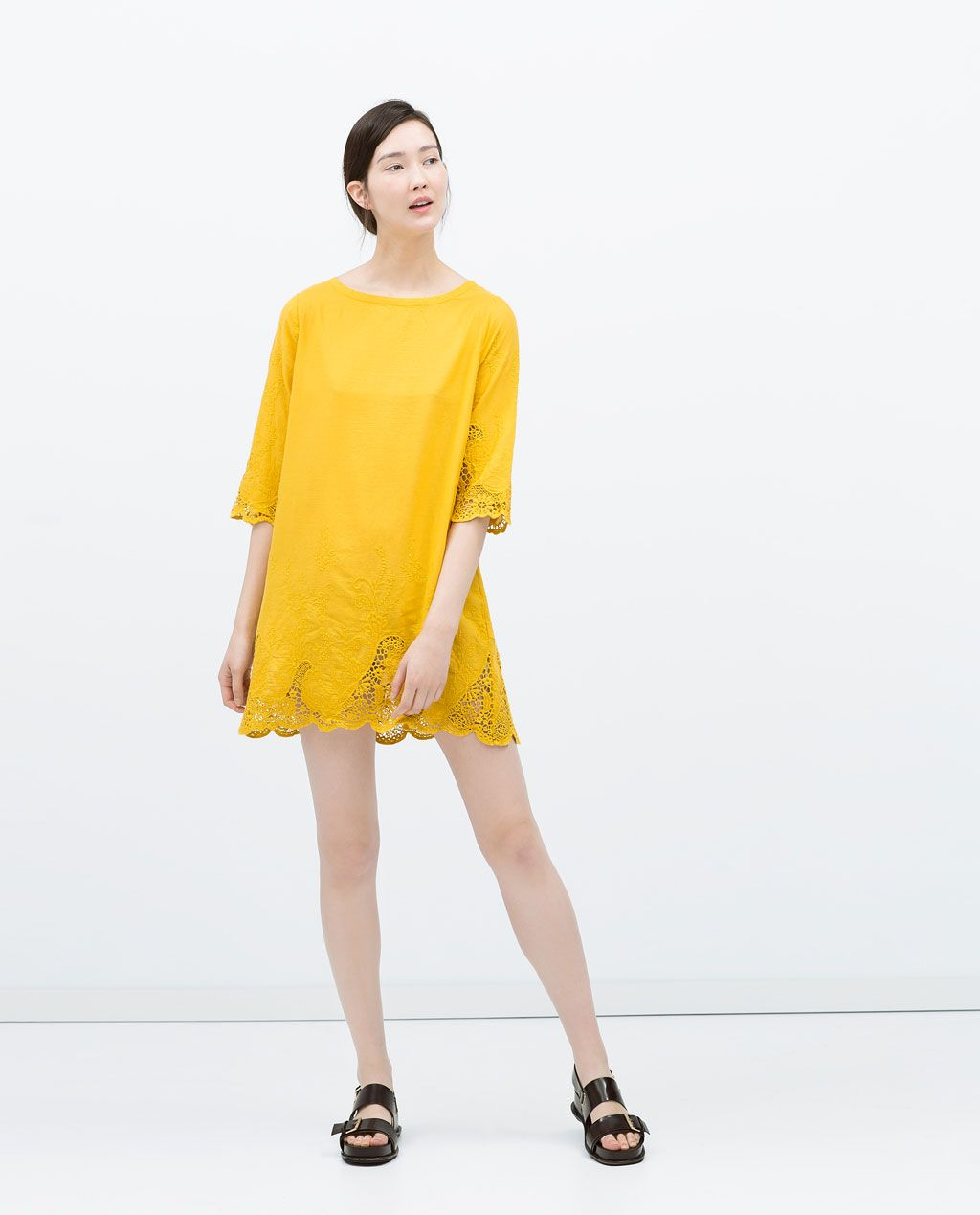 Tl image of embroidered dress from zara to buy pinterest