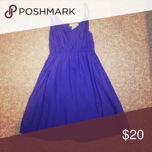 Blue dress Blue tank top dress. High low style. Staring at Stars Dresses Mini