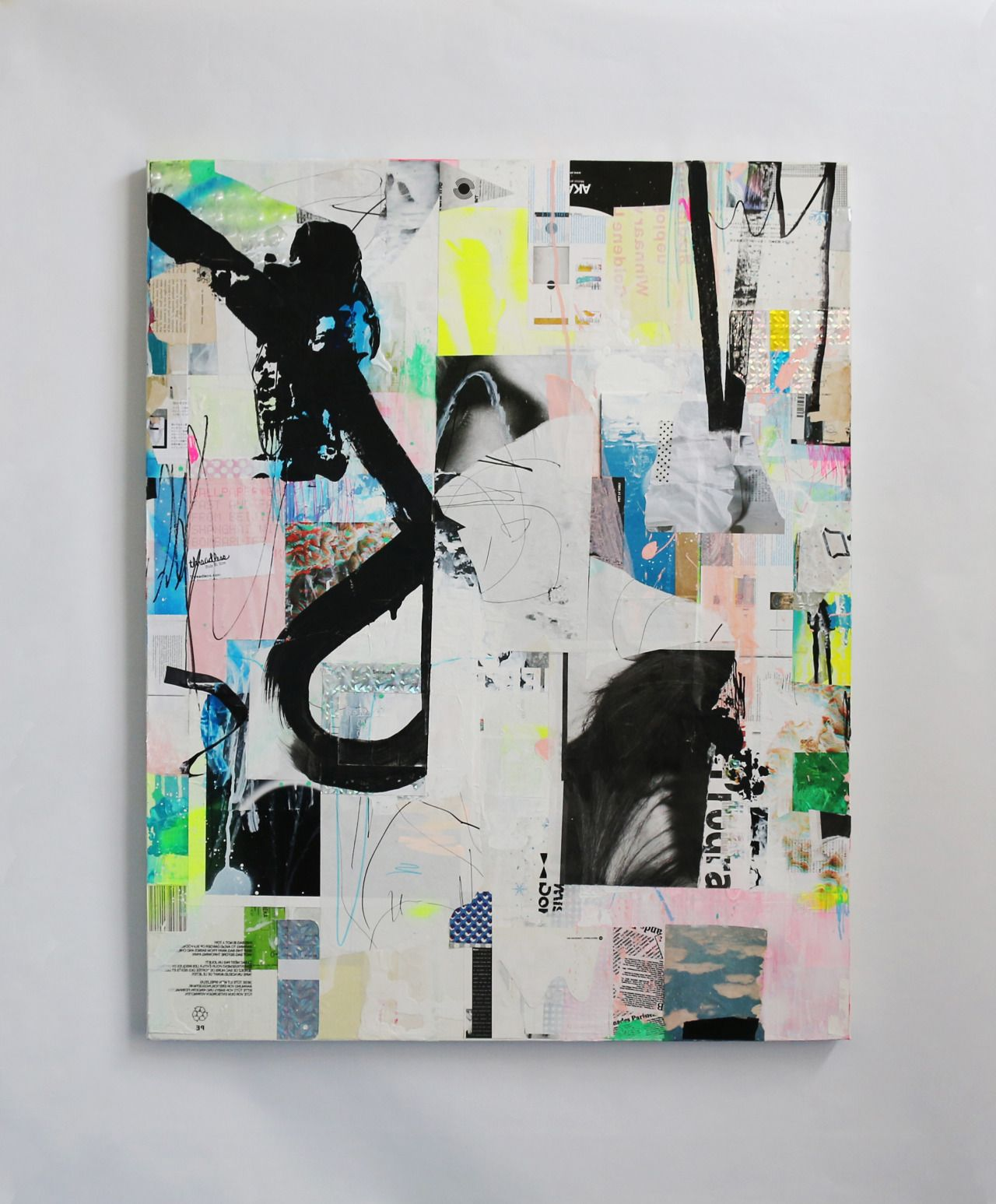 Painting collageMay 2015Acrylic, Marker, Printed paper, Gel medium on canvasF30 size / 91 x 73 cm