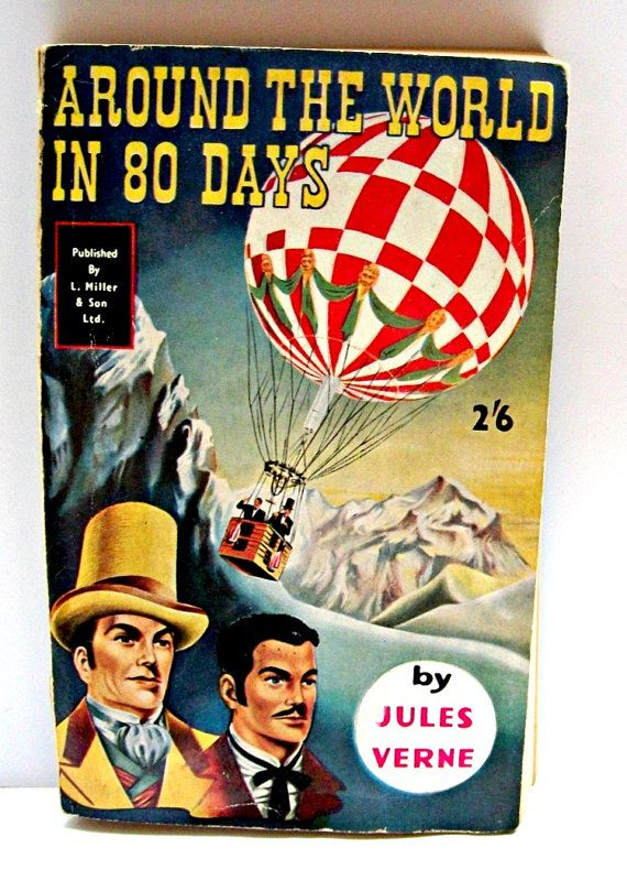 Jules Verne Around The World In 80 Days 1960s Vintage By Mish73