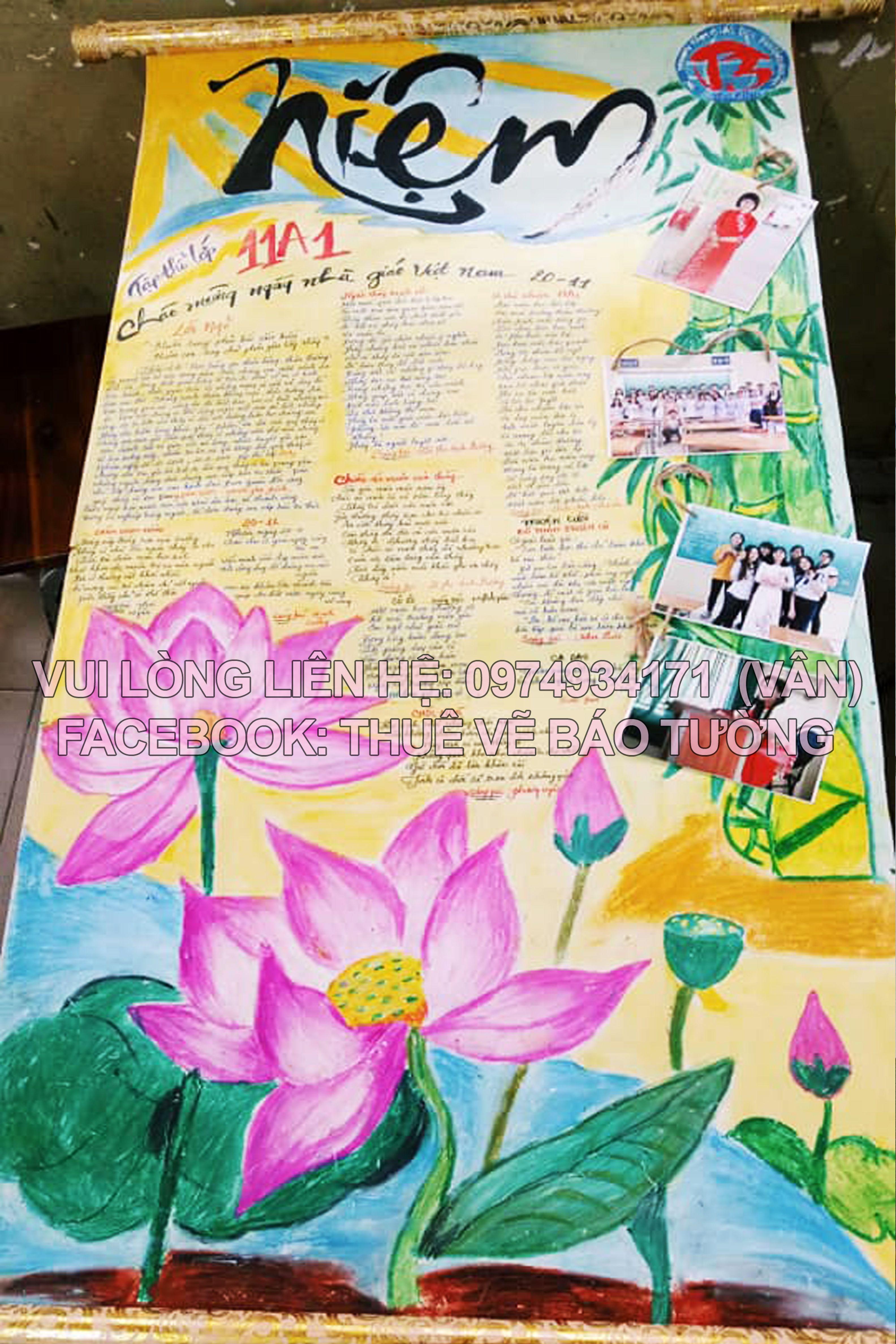 Thuê vẽ báo tường học sinh trong 2020 Nghệ thuật viết