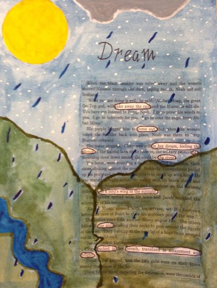 Similar to black out poetry. Blog with examples in Spanish