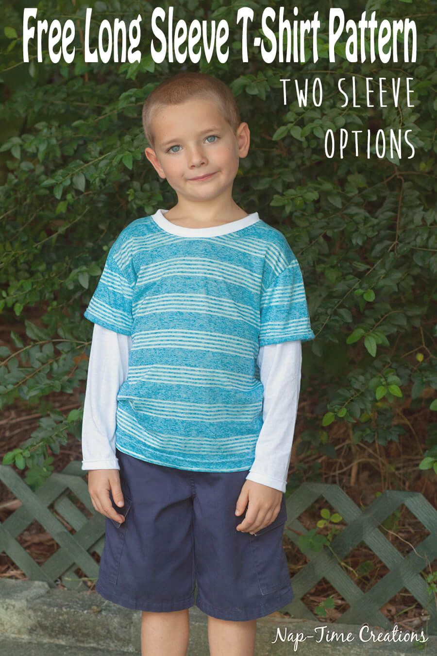 Boys Long Sleeve T-Shirt Free Pattern from Nap-Time Creations | Free ...