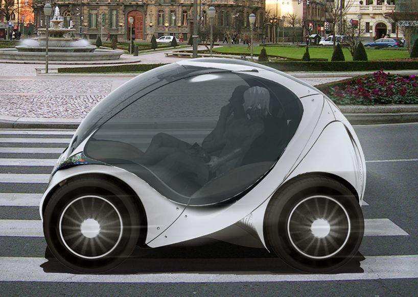 Hiriko Is A Compact Electric Urban Mobility Vehicle Capable Of Folding Together When Parked The First Work Coches Urbanos Coche Del Futuro Coches Pequeños