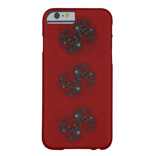 Dark red with black fancy fractal design iPhone 6 case