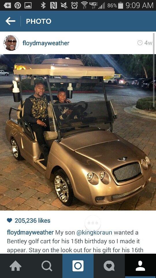 Floyd Mayweather Son Golf Cart