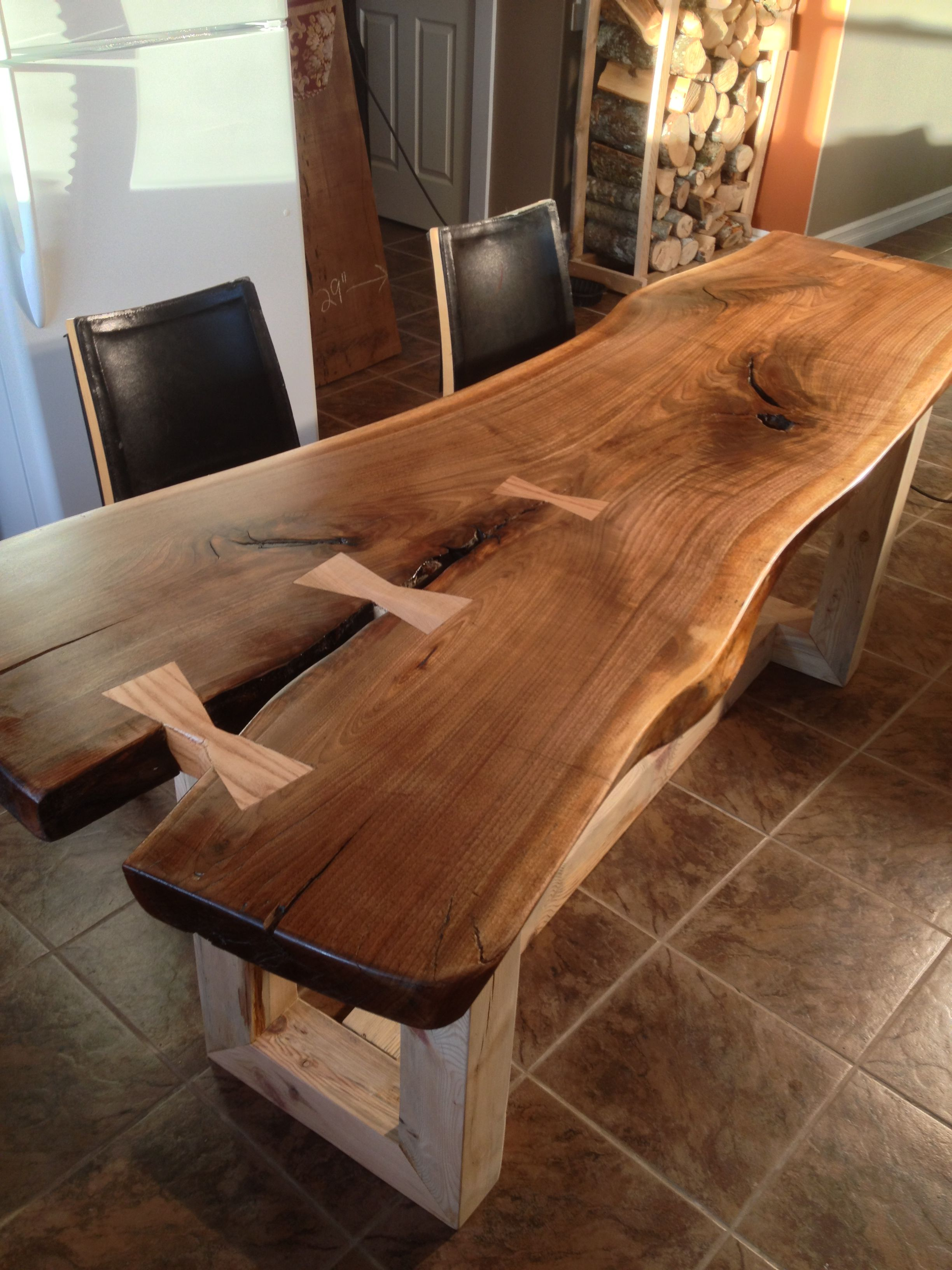 live edge dining table google search woodworking pinterest google search google and tables. Black Bedroom Furniture Sets. Home Design Ideas