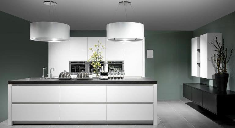 Moderne Keuken Lampen : Wildhagen hoogglans greeploze keuken met pitt cooking onder een