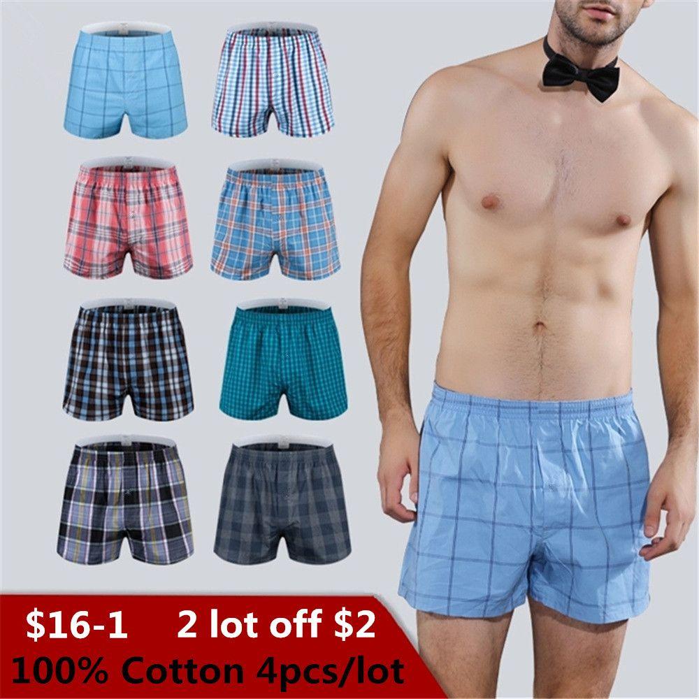 bfc2696be0b0 Calzoncillos clásicos de cuadros para hombre, calzoncillos de algodón para  hombre, ropa interior de