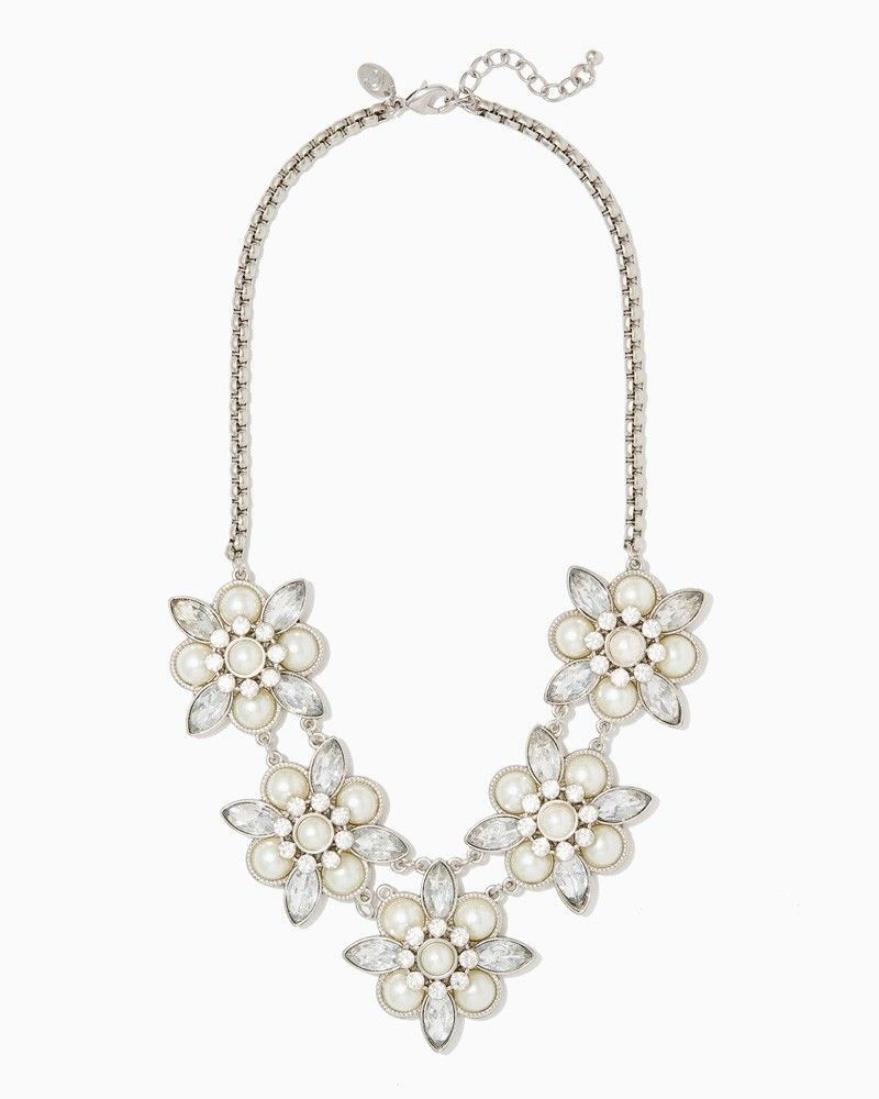charming charlie Lacey Floral Cluster Necklace UPC 400000169866