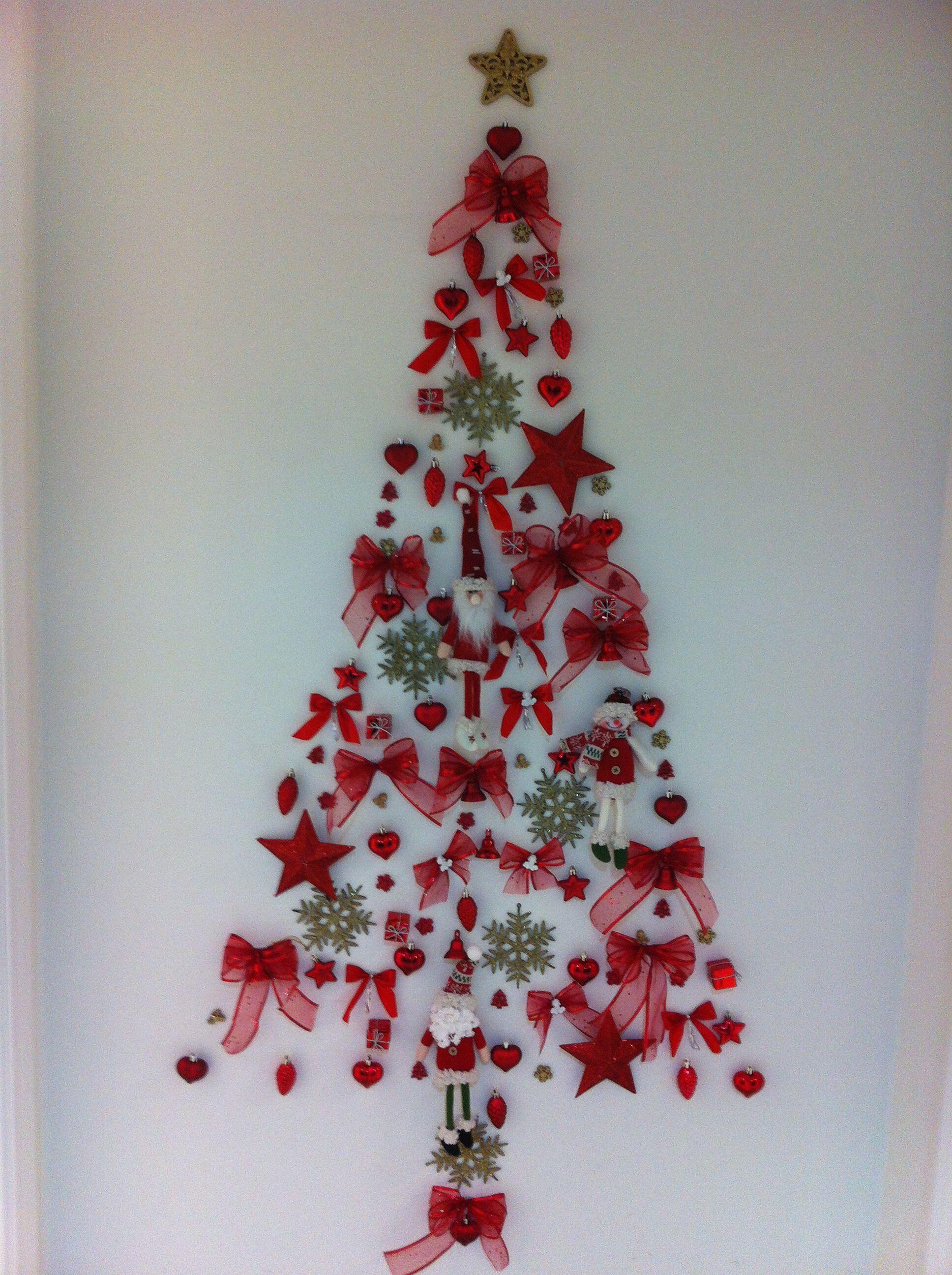 Rbol de navidad en pared mis manualidades navidad - Manualidades navidad arbol ...