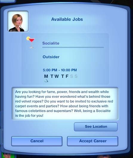 Mod The Sims - The Socialite Career (NRAAS required for all