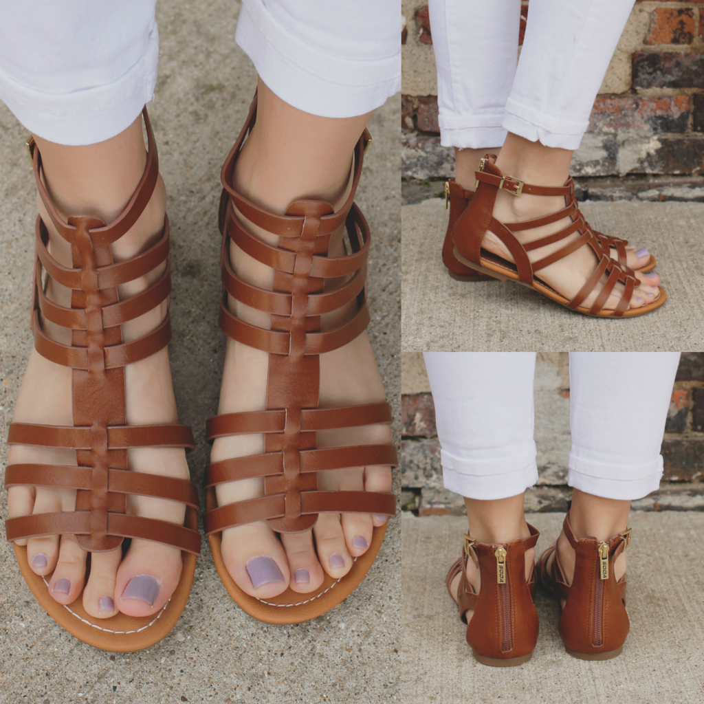 81f9a178f27bf Whiskey Buckle Accent Strappy Gladiator Sandal Dixon-AS