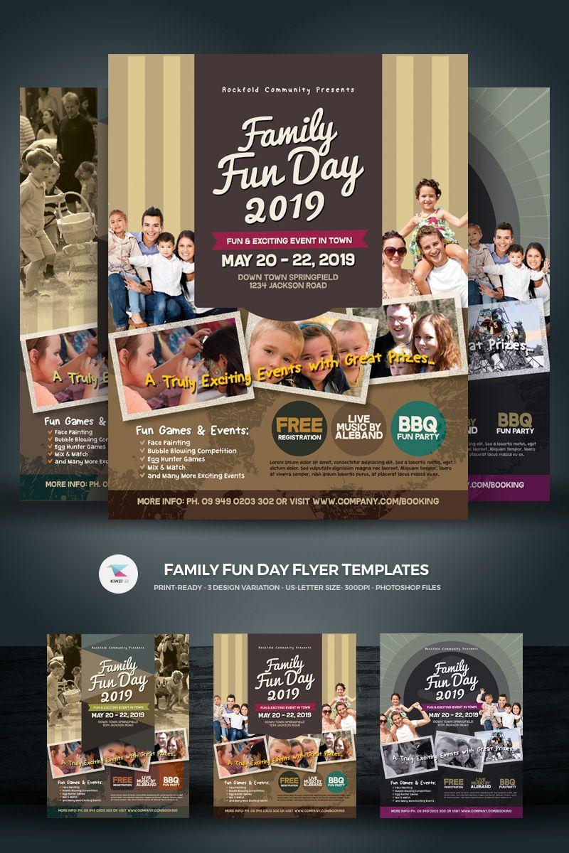 family fun day flyer vol 03 corporate identity template design