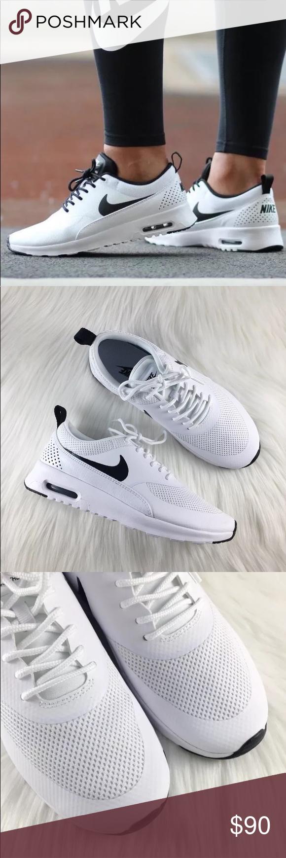 le nike air max thea white   nero scarpe neri scarpe