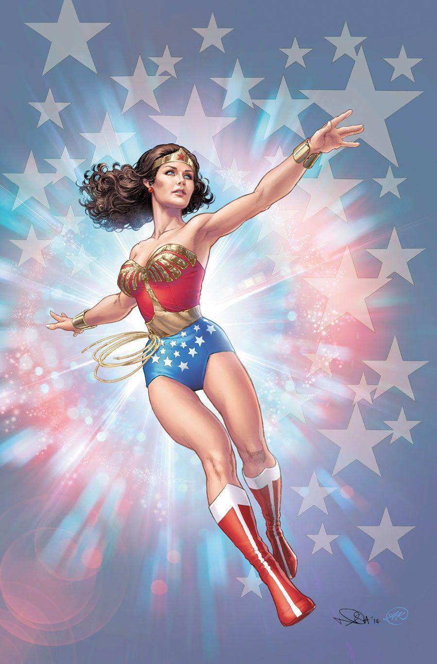 Wonder Woman '77 (Lynda Carter) promo art by Nicola Scott//Nicola Scott/S/ Comic Art