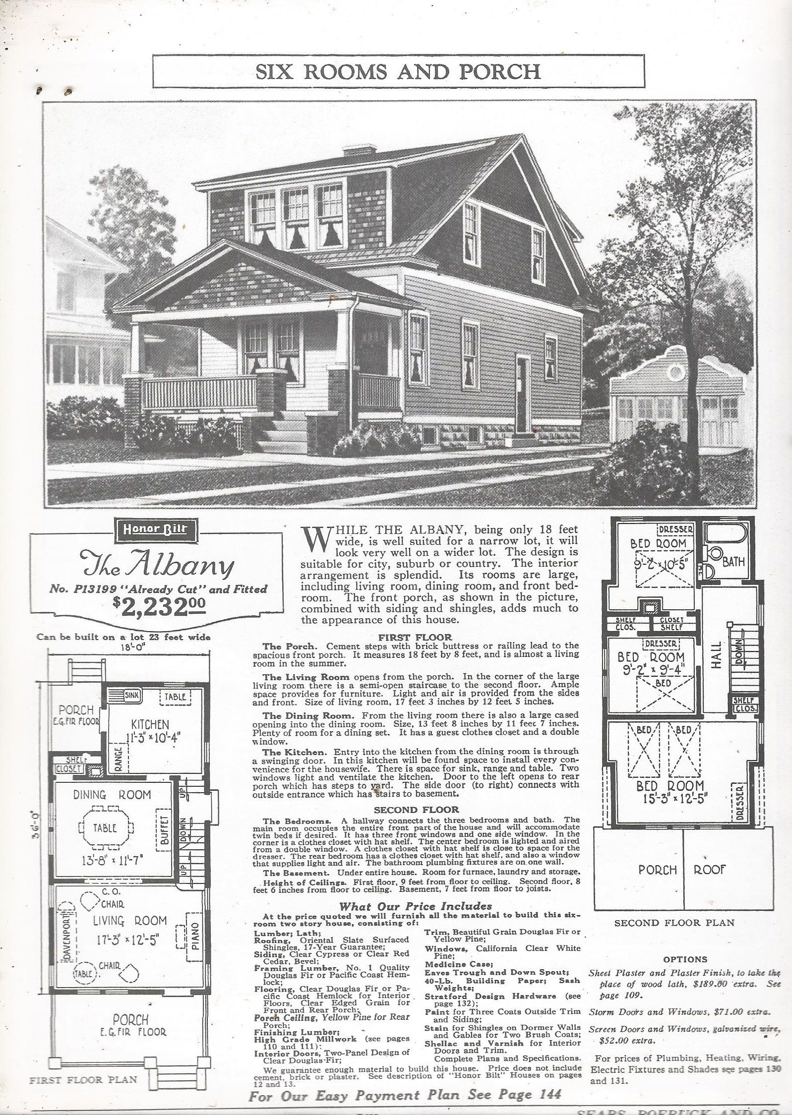 Sears Albany 1926(P13199) Similar to the Auburn   (5) Gabled roof, on landscaping homes, side porch homes, side wall homes, side garage homes, kitchen homes, side entry homes,