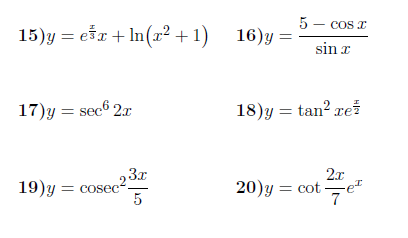 Differentiation using the chain rule worksheet (with answers