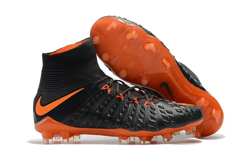 finest selection b7f12 42a32 Nike Hypervenom Phantom III DF FG 2018 World Cup Core Black Total Orange Soccer  Cleats