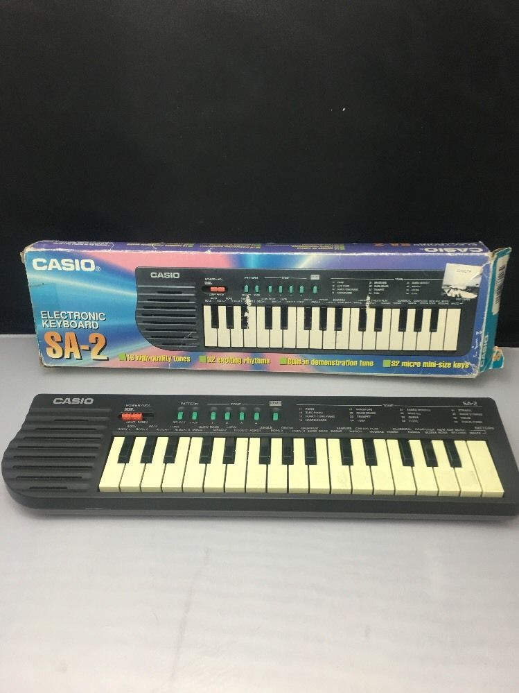 6fd8369c4 Vintage Small Casio Keyboard SA-2 1980s | Common Shopping in 2019 ...