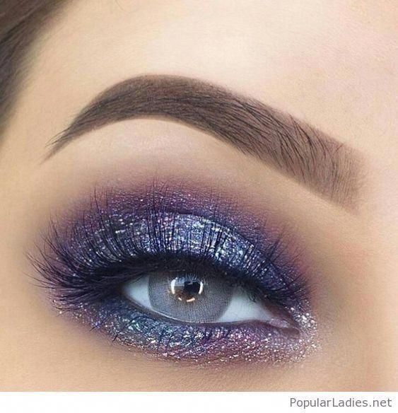 100+ Stunning Eye Makeup Ideas · Brighter Craft #eyemakeups #glittereyemakeup