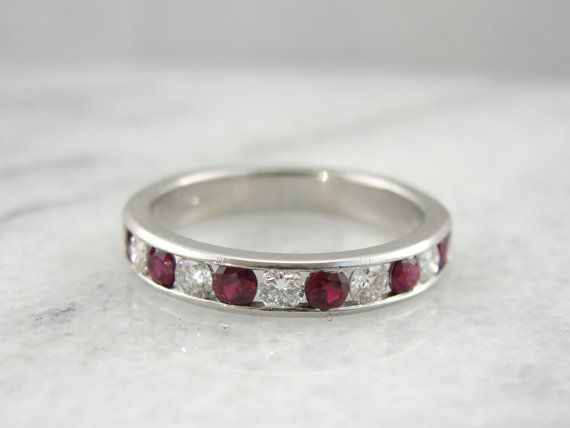 Hey, I found this really awesome Etsy listing at https://www.etsy.com/listing/212700774/classic-platinum-diamond-and-ruby