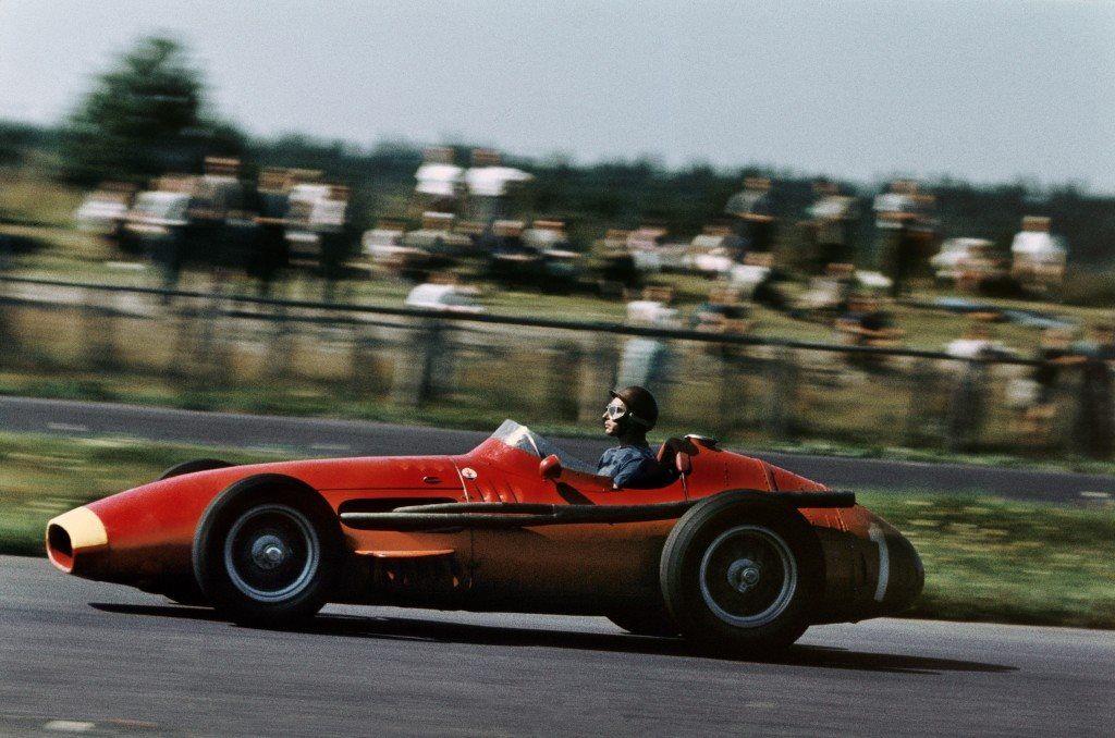 Juan Manuel Fangio (Maserati ) first at Nurburgring GP   Juan Manuel