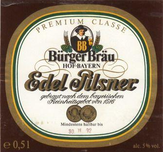 Burger Brau Bierdeckel Bier Spirituosen