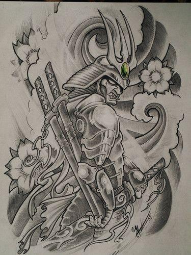 Samurai Dragon Tattoo Design Tattoo Pinterest Samurai Tattoo