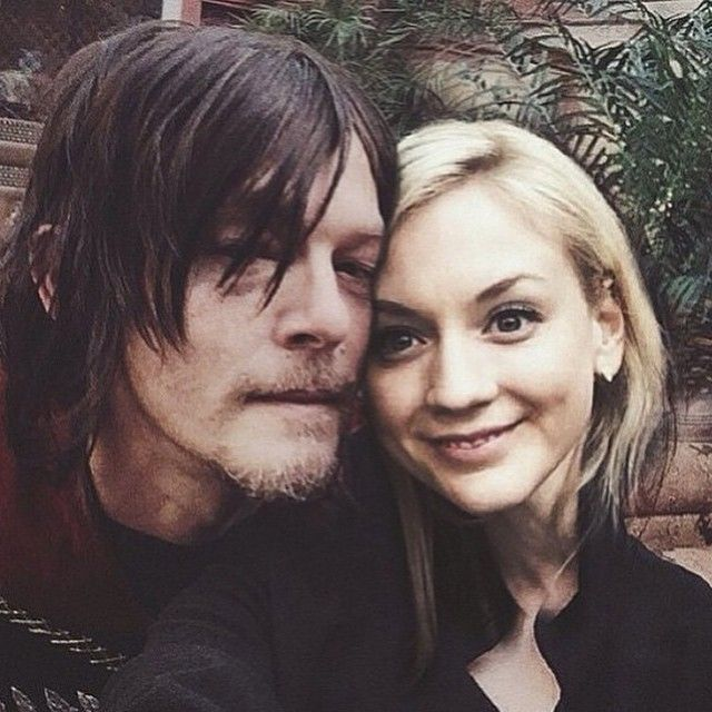 Norman (Daryl) and Emily (Beth)
