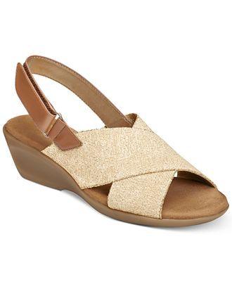 849029585555 Aerosoles Badlands Wedge Sandals - Comfort - Shoes - Macy s