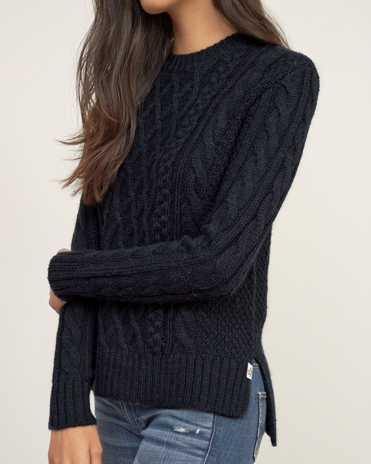 black knitted jumper womens - Google Search
