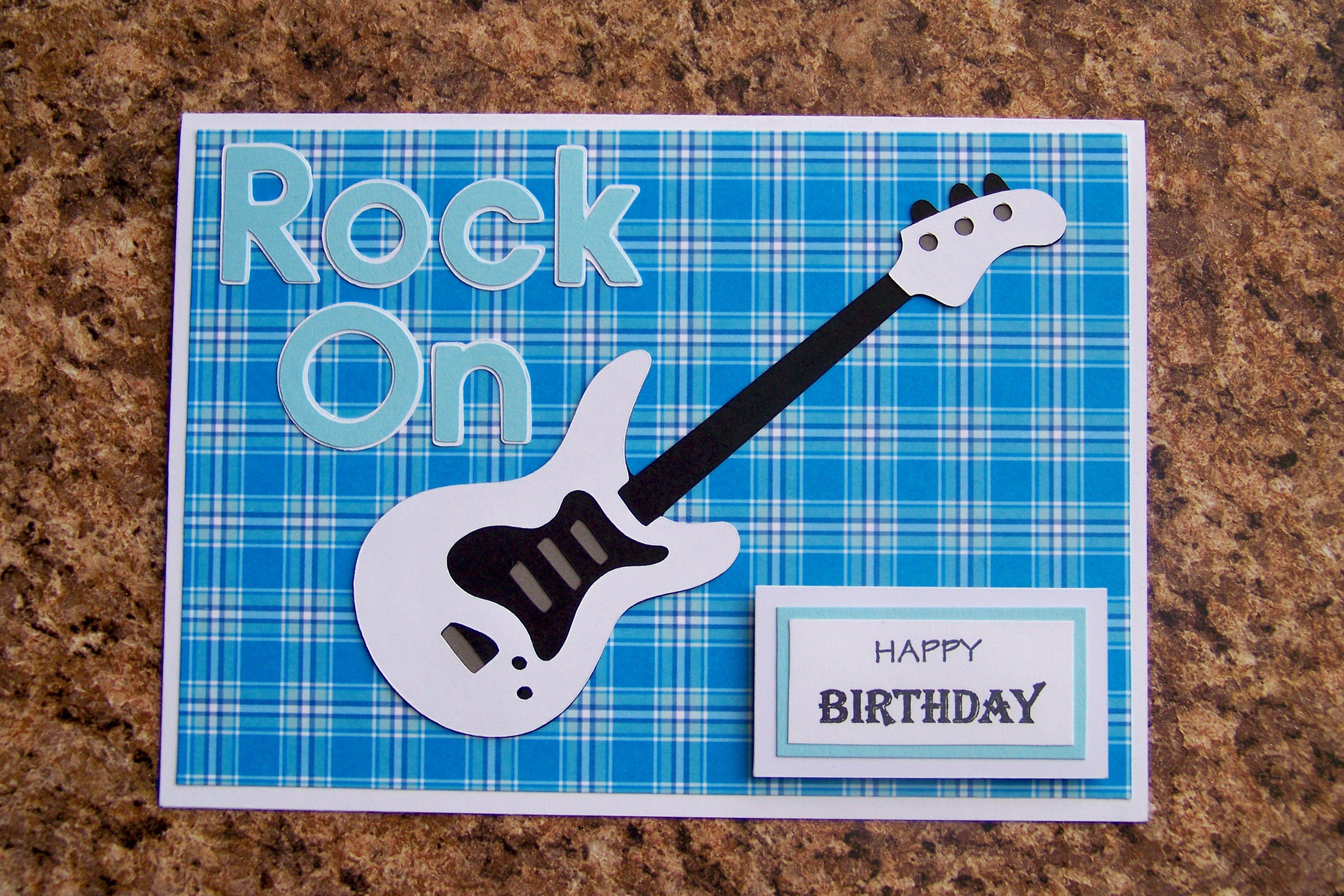 Guitar Birthday Card Musical Cards Cards Boy Cards