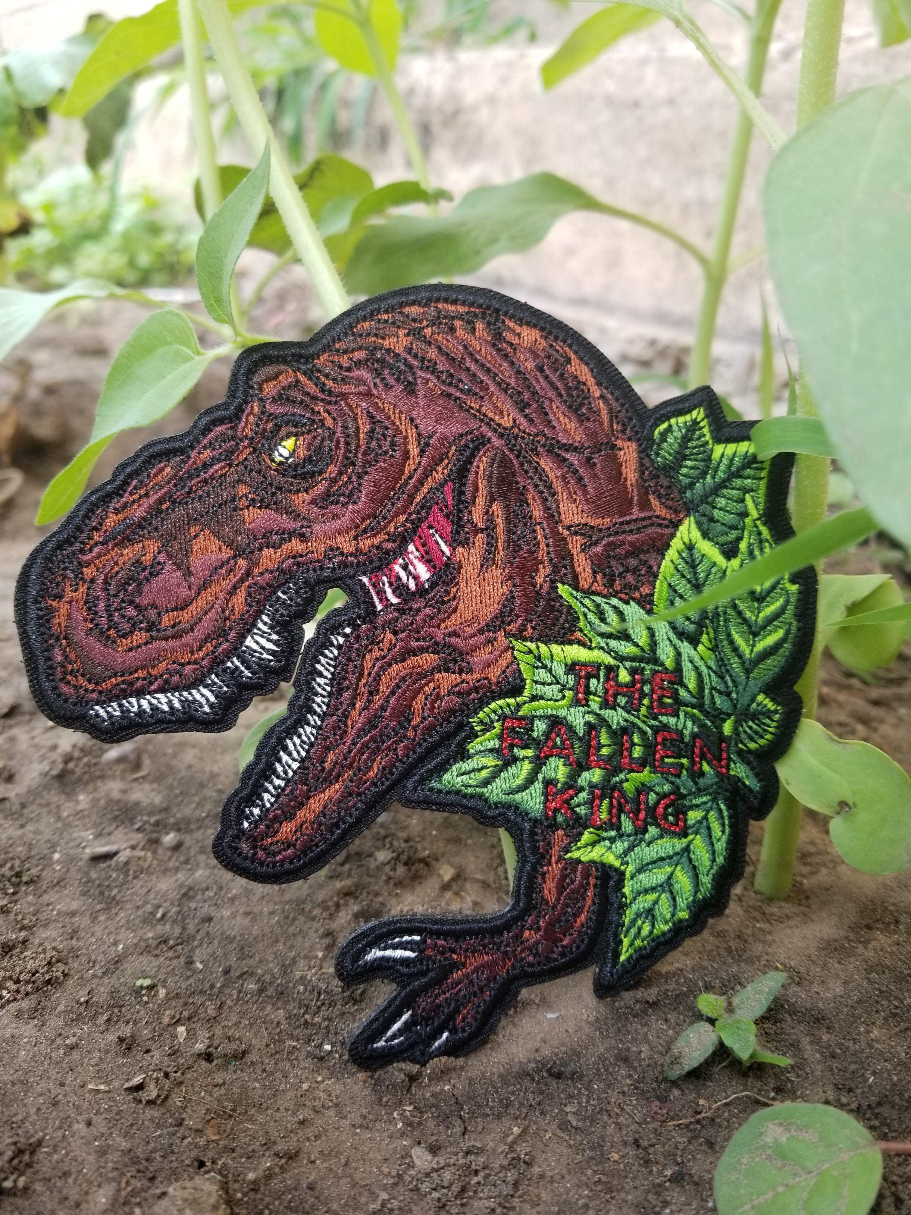 Museum T-Rex Science Dinosaur Iron On Applique Patch