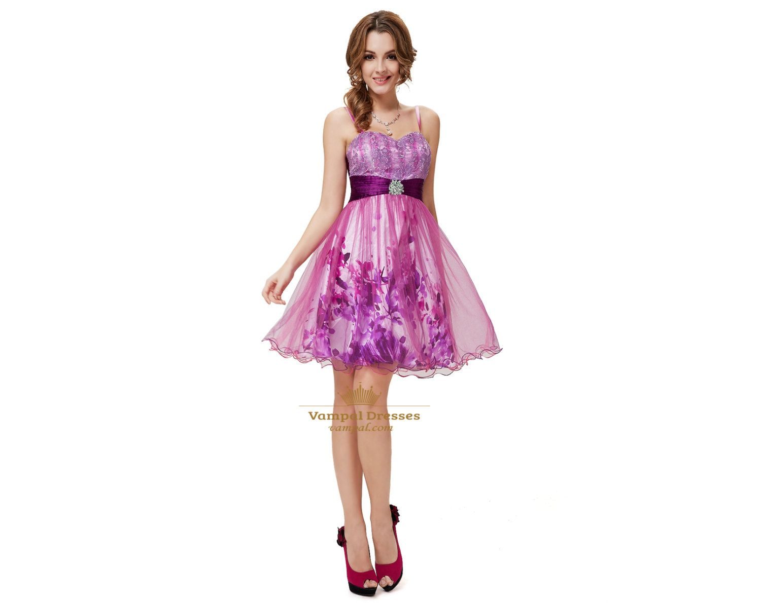 Short Purple Cocktail Dresses For JuniorsPurple by Vampal on Etsy, $108.00