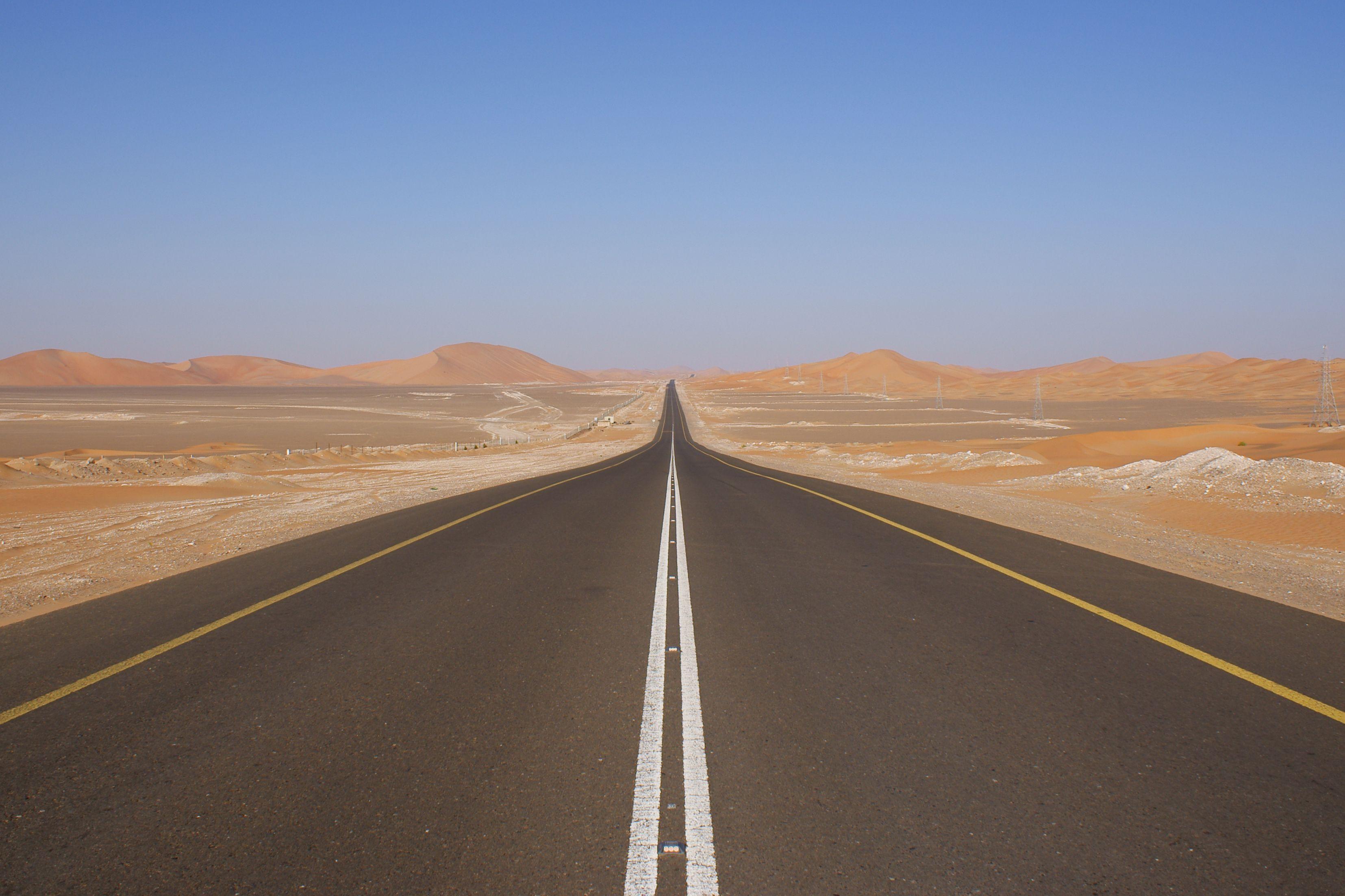 Desert Road UAE Free Wallpapers HD Related