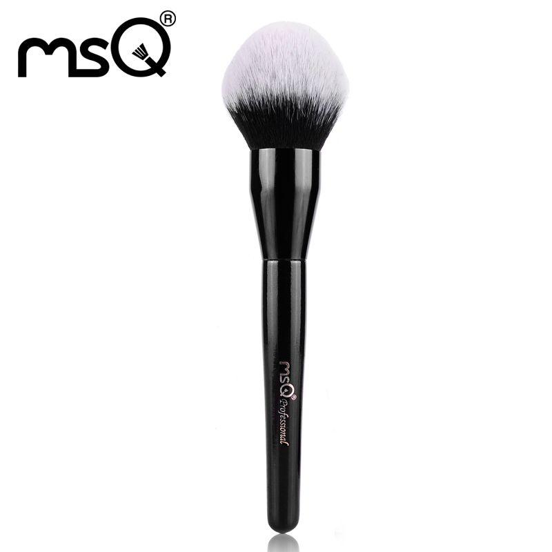 Msq 단일 메이크업 브러쉬 아름다움 큰 파우더 전문 브러시 고품질 합성 머리 도매 패션 도구