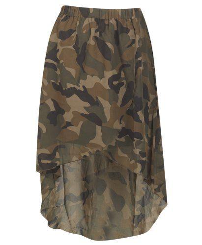 plus size hi low camouflage fashion bug skirt www.fashionbug