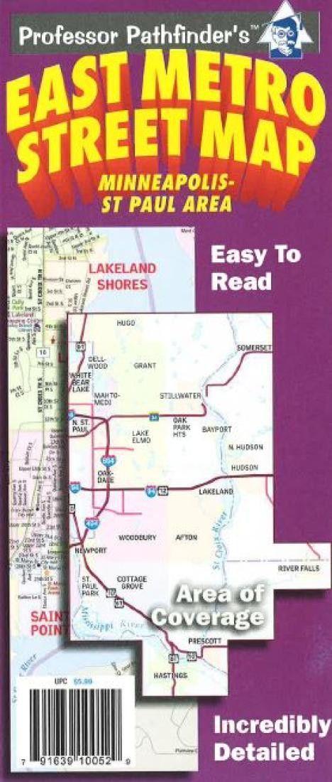 Minneapolis-St Paul, Minnesota, East Metro by Hedberg Maps ...