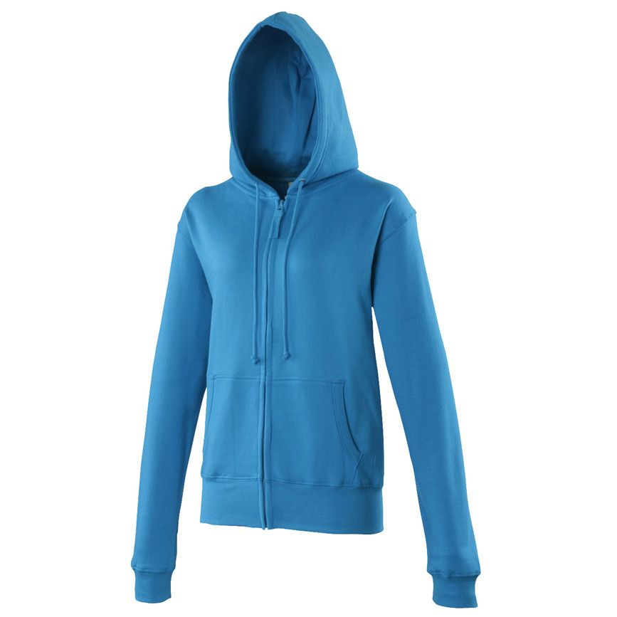 Zip-up Hoody Sports Jacket, Sapphire Blue