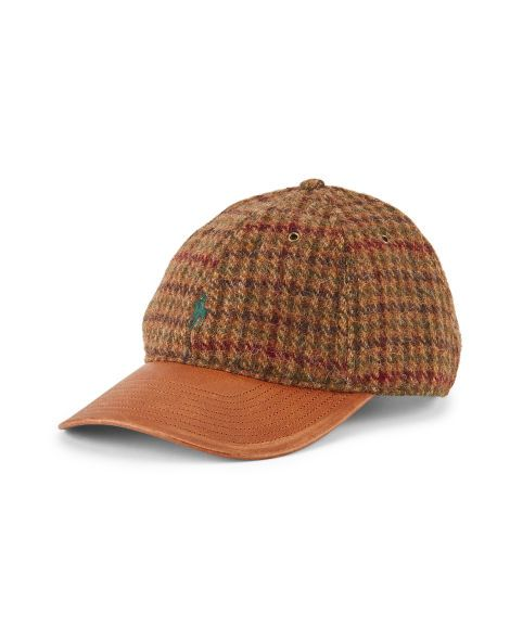 Wool-Blend Tweed Baseball Cap - Polo Ralph Lauren Hats - RalphLauren ... 2420a6bb1be