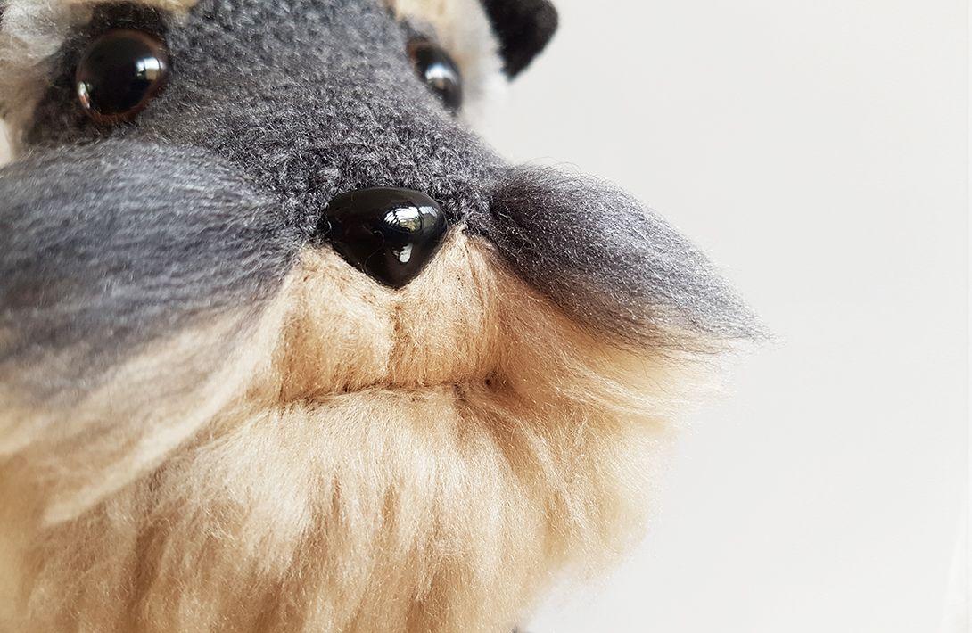 Free Amigurumi Dachshund Pattern : Project amigurumi dog with diy fur schnauzer dogs