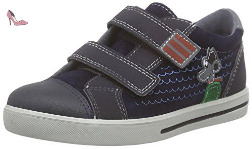 Ricosta Snap, Sneakers Basses garçon - Bleu - Blau (nautic/see 172)