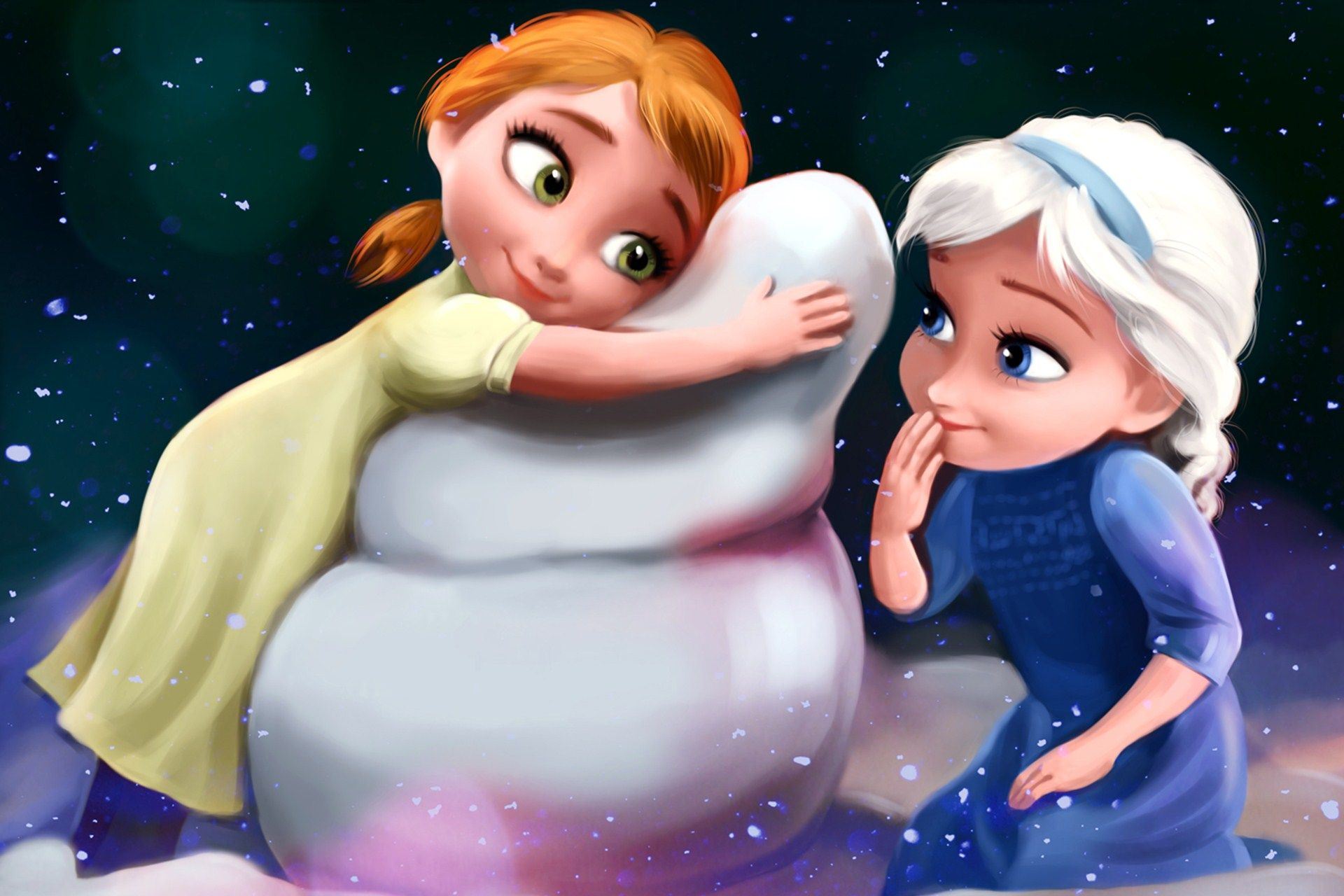 Disney Frozen Anna And Elsa As Kids Hd Wallpaper Frozen