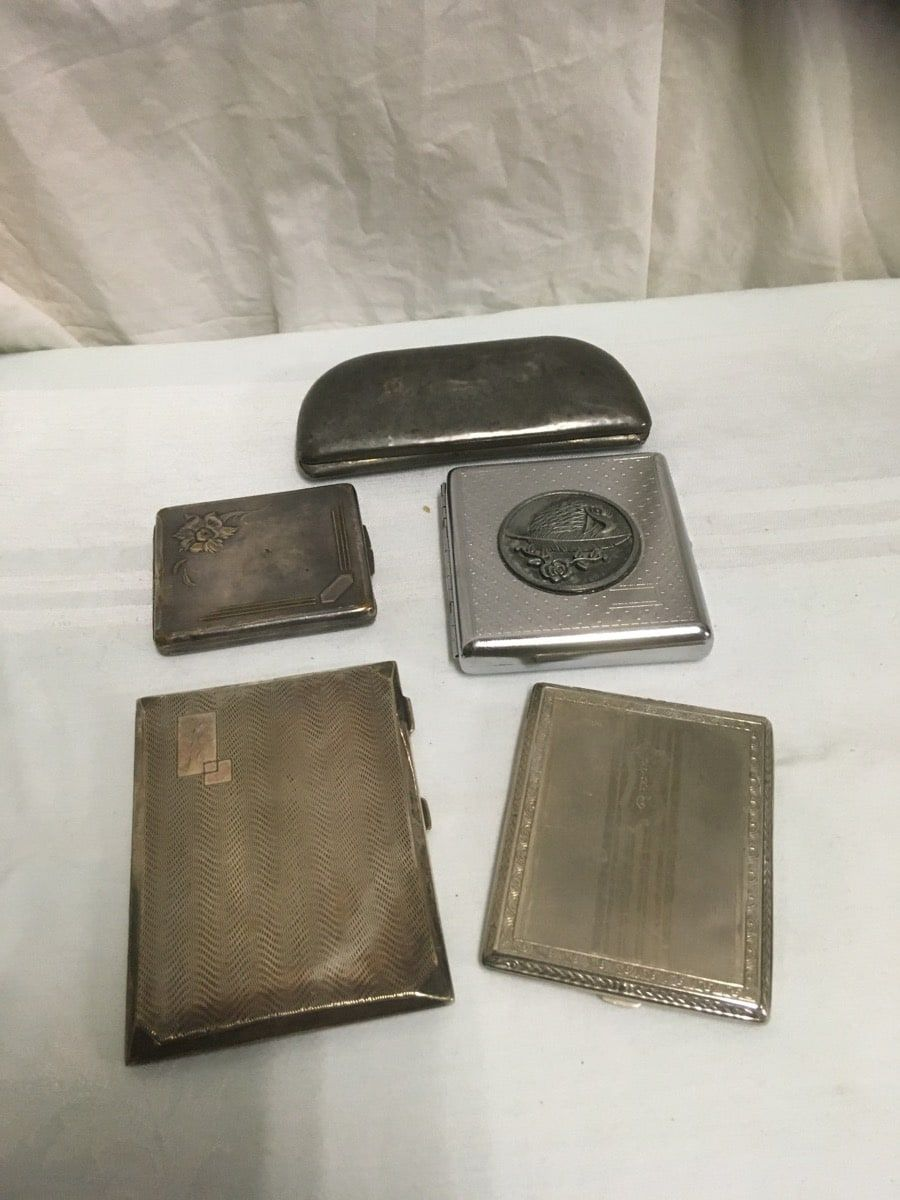 pocket vintage cases brass & silverplated Item s gn_309